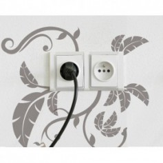 Adesivo murale wall stickers Jungle per prese elettriche
