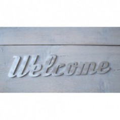 Scritta decorativa Welcome